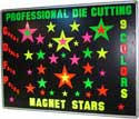 Magnet Sets of Stars. Each is die cut to fit. Mated Magnet Stars